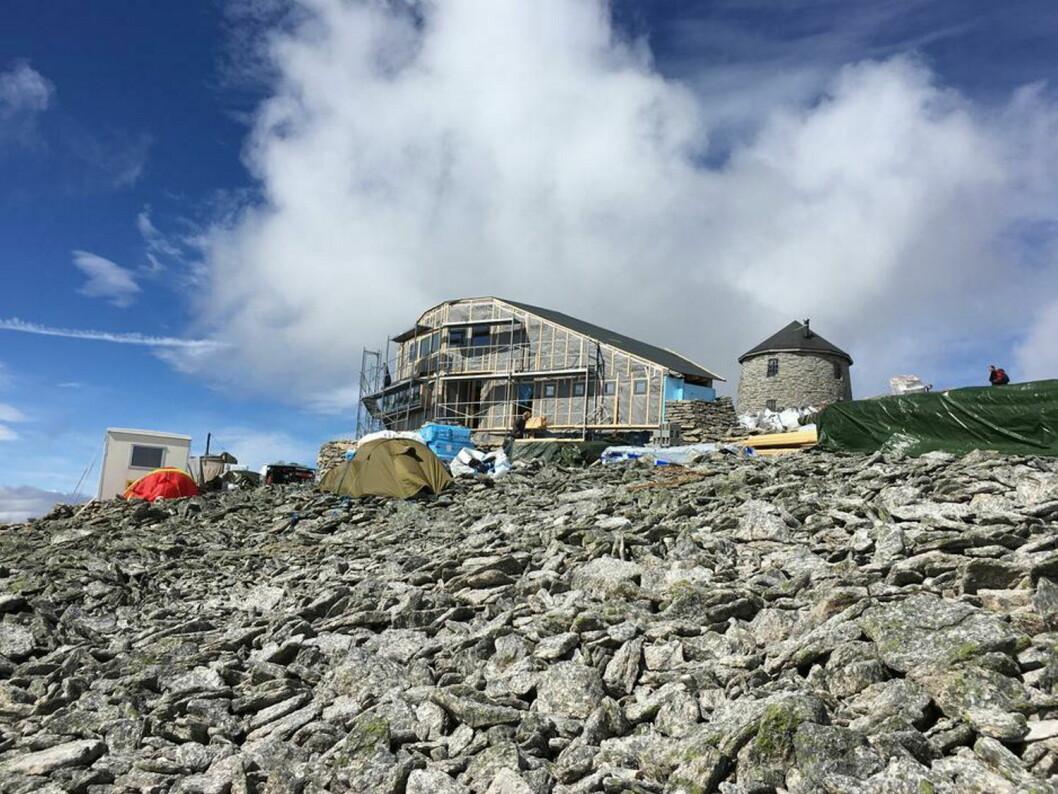 Ny turisthytte på Skål. (Foto: Johnny Bjørge, Bergen og Hordaland Turlag)