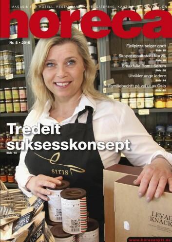 Forsiden på magasinet Horeca, nummer 5 2016. (Foto: Morten Holt/layout: Tove Sissel Larsgård)