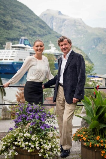 Hotellsjef Maud Haldorsen og direktør Tore Sævil Haldorsen. (Foto: Frank Stenersen)