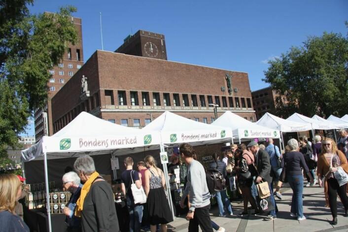 Matstreif arrangeres på Rådhusplassen og Kontraskjæret i Oslo. (Foto: Morten Holt)