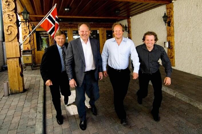 Fire brødre styrer Storefjell Resort Hotel: Fra venstre K<em>n</em>ut Nibstad, Hans Nibstad, Arne Nibstad og Lars Nibstad<em>. (Foto: Arkiv)</em>