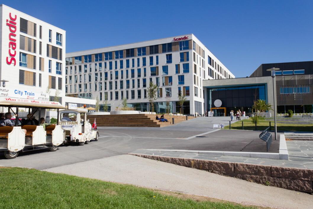 Scandic Kristiansand Bystranda er Sørlandets største hotell. (Foto: USUS/Visit Sørlandet)
