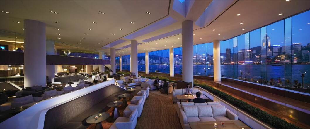 Lobbyen på Intercontinental Hong Kong.