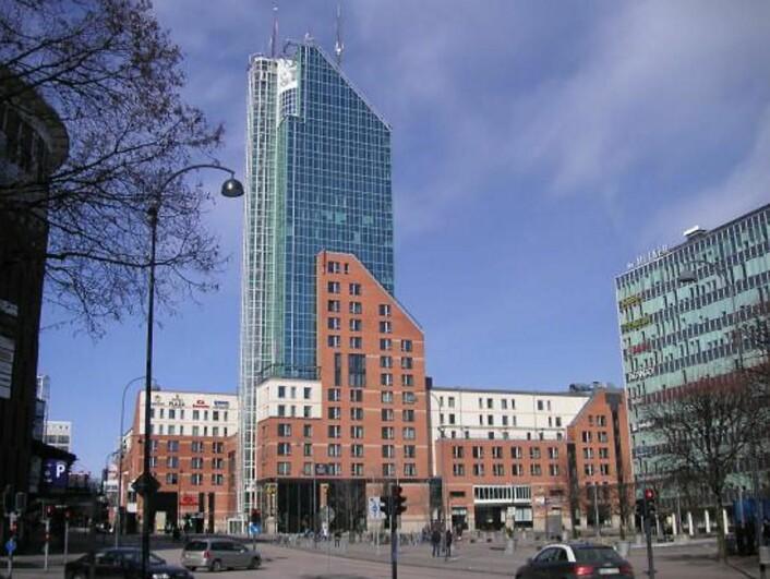 Hotellet er markant i den svenske byen.
