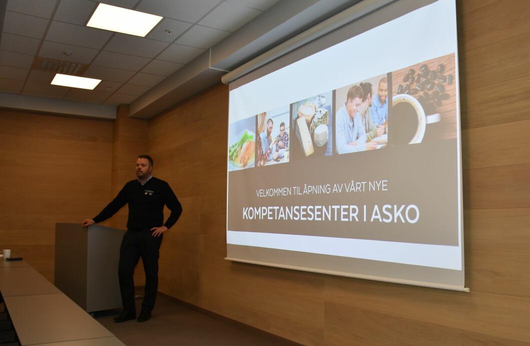 Ted Allergodt fra Joh. Johansson under åpningen av ASKO kompetansesenter.