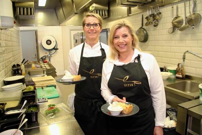 <em>Siri Tømte tok med seg kjøkkensjef Nina Rylandsholm (til venstre) fra Forstmann. (Foto: Morten Holt)</em>