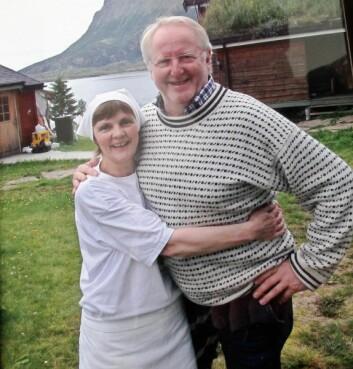 Anita Vik og Eyvind Hellstrøm kom godt overens da mesterkokken besøkte stedet i 2012. (Foto: Privat)