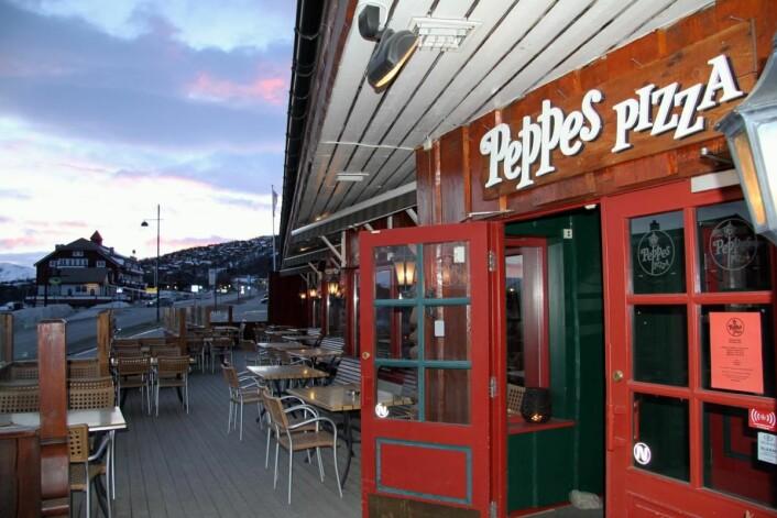 Peppes på Beitostølen er landets høyest beliggende Peppes-restaurant. (Foto: Morten Holt)