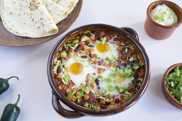 Huevos rancheros er blant oppskriftene som ble servert. (Foto: Matprat.no)