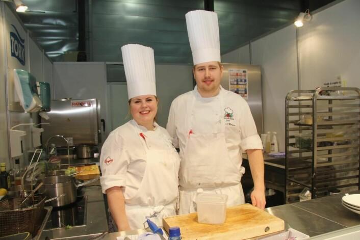 Thomas Johansen Borgan sammen med Renee Fagerhøi, som ble landskjent etter at hun vant Top Chef på TV2 tidligere i år. (Foto: Morten Holt)