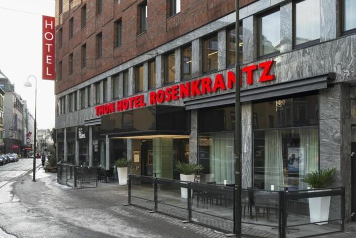 Thon Hotel Rosenkrantz i Oslo sørget for dobbeltseier til Thon Hotels i Twinings Best Breakfast 2016. (Foto: Arkiv)