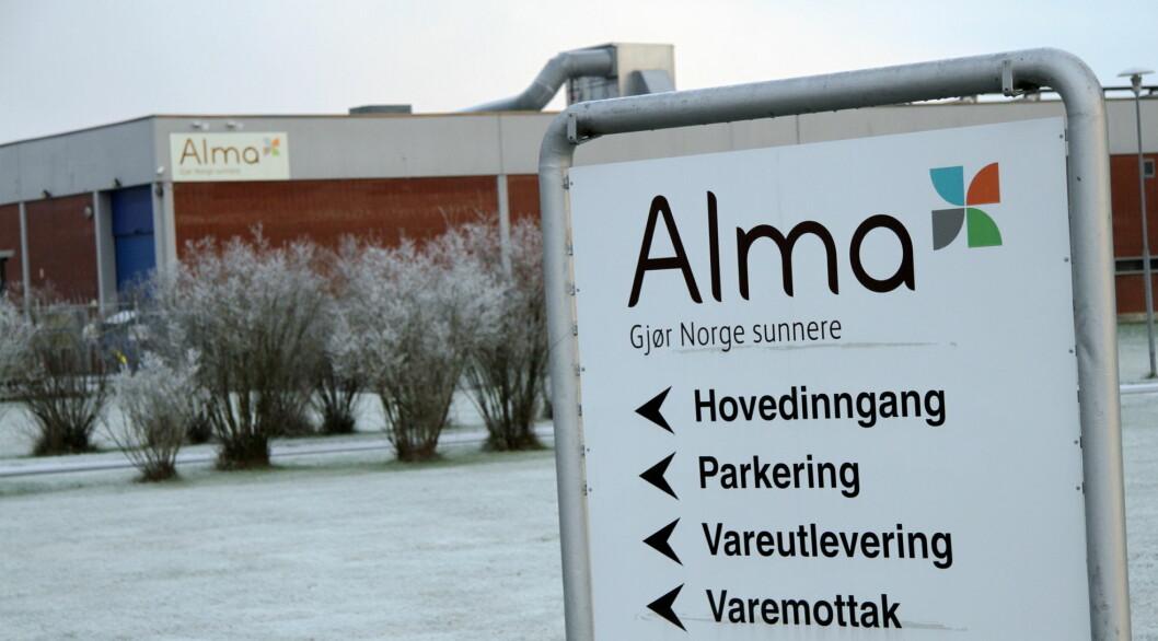 Alma Norge fusjoneres med Midsona Norge, og de aller fleste ansatte flyttes fra Årnes til Oslo. (Foto: Morten Holt)