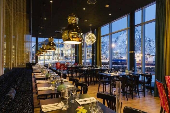 Restauranten Paleo Arctic på Thon Hotel Lofoten. (Foto: Hotellet)