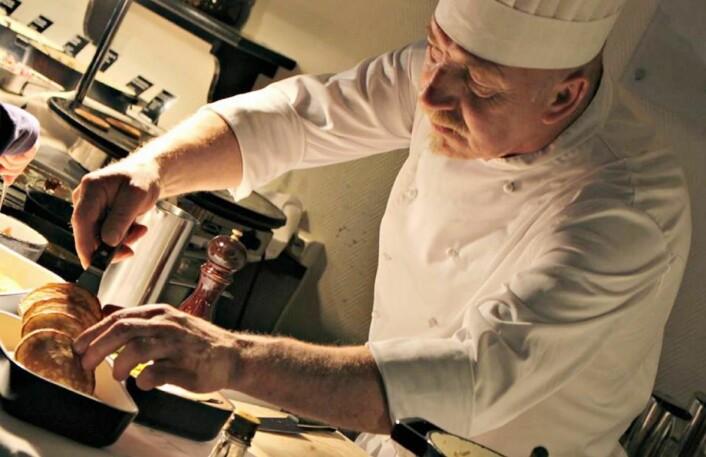 Frokostkokken på Scandic Hell, Roger Johansen, ble hedret under frokostkåringen i kveld. (Foto: Scandic Hell)