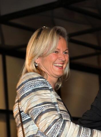 Kristin Krohn Devold kommer. (Foto: Morten Holt)