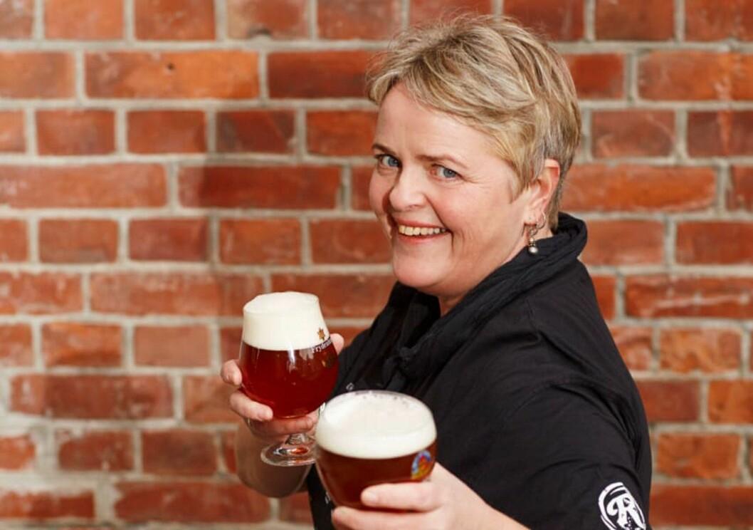 Sigrid Strætkvern er ølekspert og har tittelen stemningsskaper i Ringnes. (Foto Ringnes)