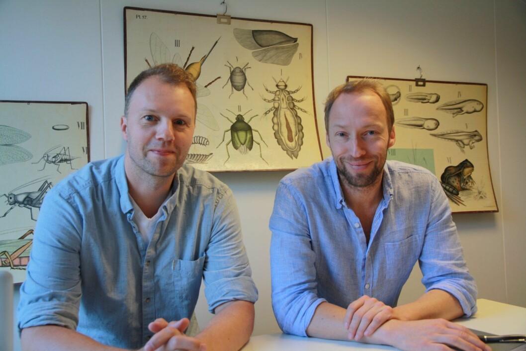 Trond O. Langfjæran og Terje Meling i det nye vinselskapet Natural Selections.