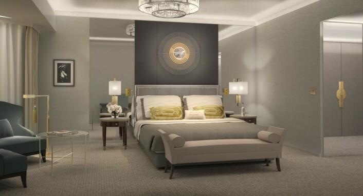 Nyoppussede rom på Grand Hotel.