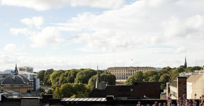 Utsikt fra Grand Penthouse Terrace Suite.