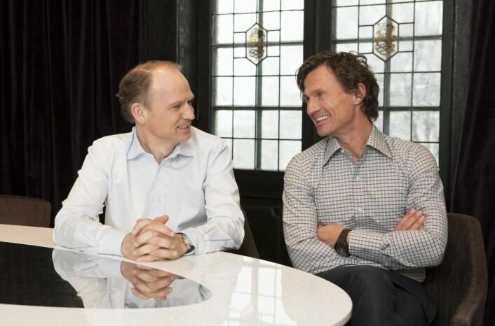 Torgeir Silseth og Petter A. Stordalen kan smile bredt etter at Norsk Hotellnæring 2016 ble publisert. (Foto: Tord-Erik Andresen)