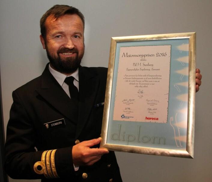 Prisvinner Pål Harald Stenberg etter utdelingen av Matomsorgsprisen på Radisson Blu og Park Inn by Radisson Alna. (Foto: Morten Holt)