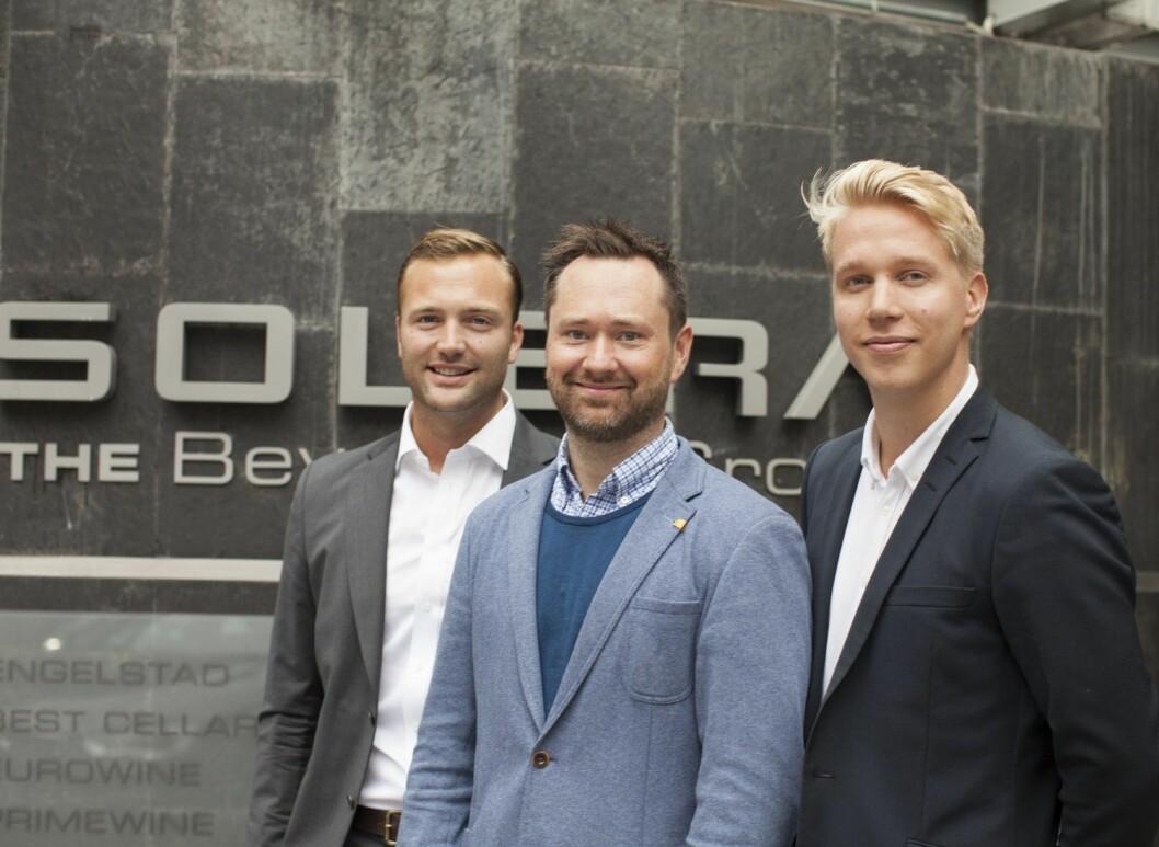 Ole Steinsholt (fra venstre), Stein Erik Treverket og Kristian Esko Haraldsen.