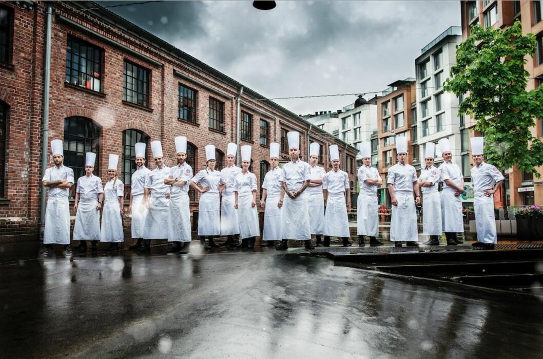 Deltakerne på det norske kokkelandslaget er klare for OL i Erfurt i Tyskland. (Foto: Fredrik Ringe)