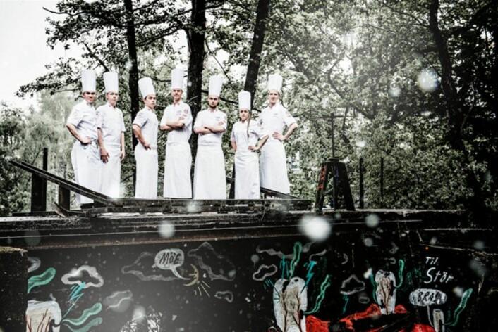Det norske kokkejuniorlandslaget. (Foto: Fredrik Ringe)