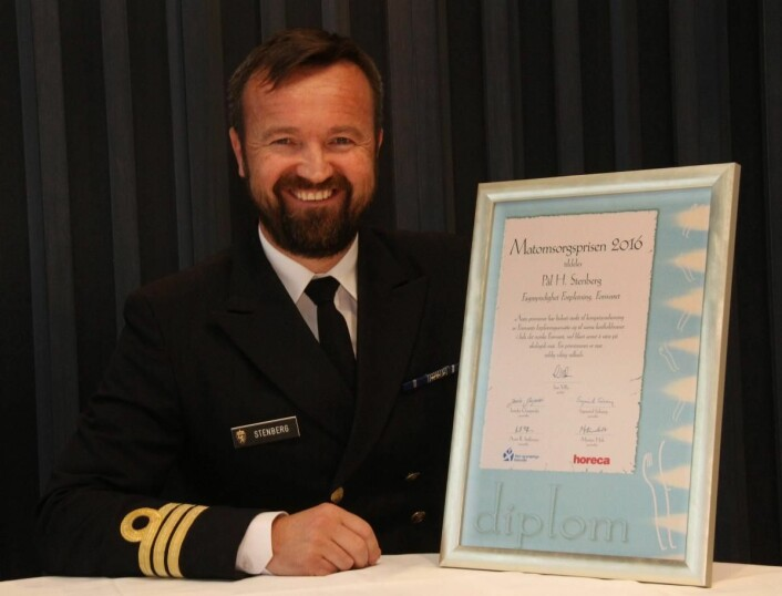 Pål H. Stenberg i Forsvaret er tildelt Matomsorgsprisen 2016. (Foto: Morten Holt)