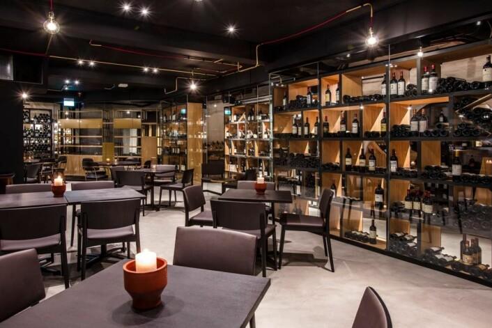 Den nye vinkjelleren på Grad Café. (Foto: Grand Café)