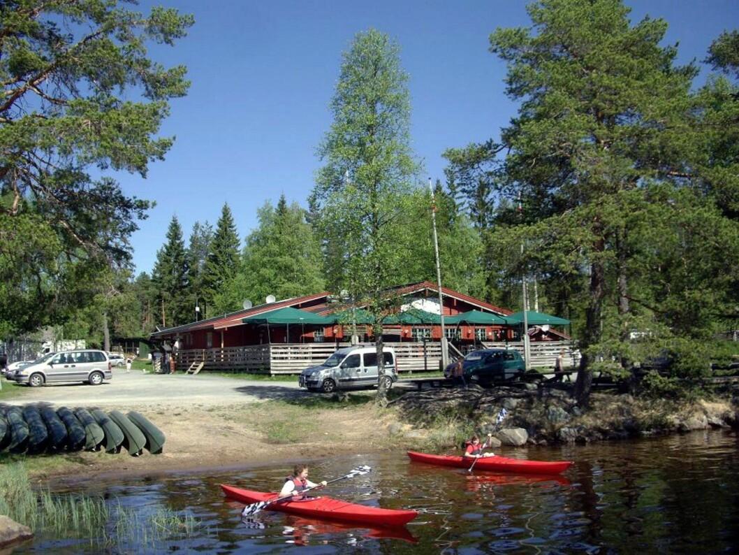 Restaurantbygget på Finnskogen Turist- og Villmarksenter. (Foto: Bedriften)