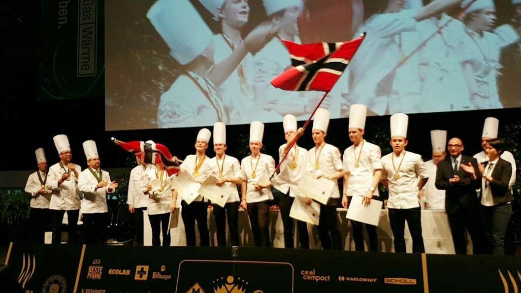 Bronse til det norske kokkejuniorlandslaget i OL i Erfurt. (Foto: NKL)