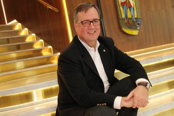 Morten Thorvaldsen i Thon Hotels forteller at kjeden har lagt stor vekt på design, teknologi og mat- og drikkeopplevelser. (Foto: Morten Holt)
