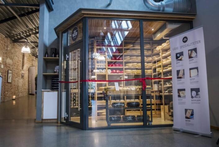 Den nye Ostebanken på Kulinarisk Akademi i Oslo.