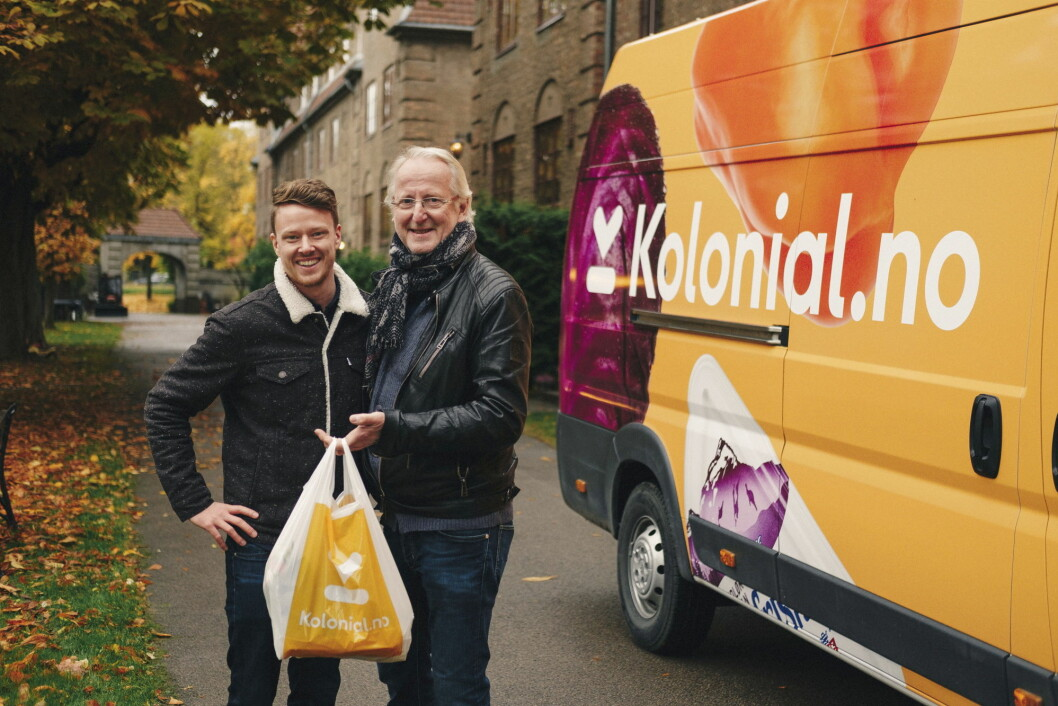 Eivind Hellstrøm lover sammen med markedssjef i Kolonial.no, Mats André Kristiansen, å snu opp ned på norsk dagligvarebransje med sitt samarbeid.