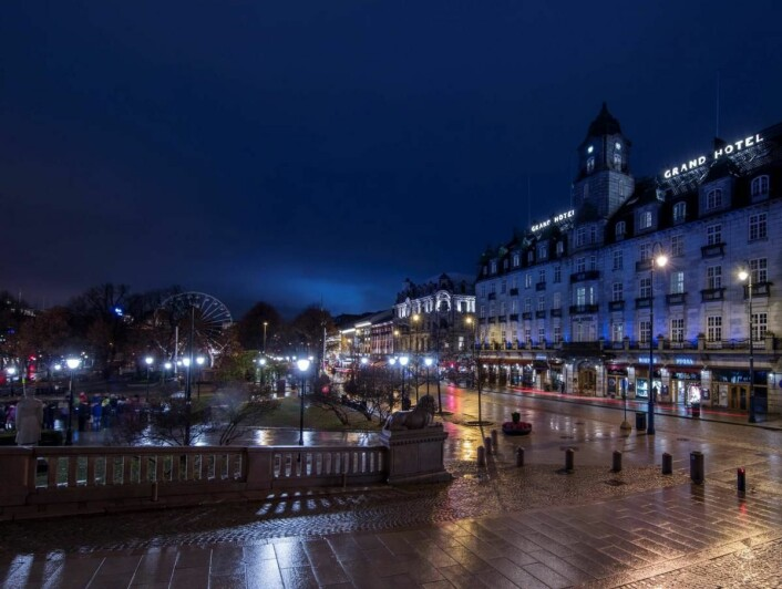Grand Hotel markerte World Diabetes Day. (Foto: Ole Walter Jacobsen)