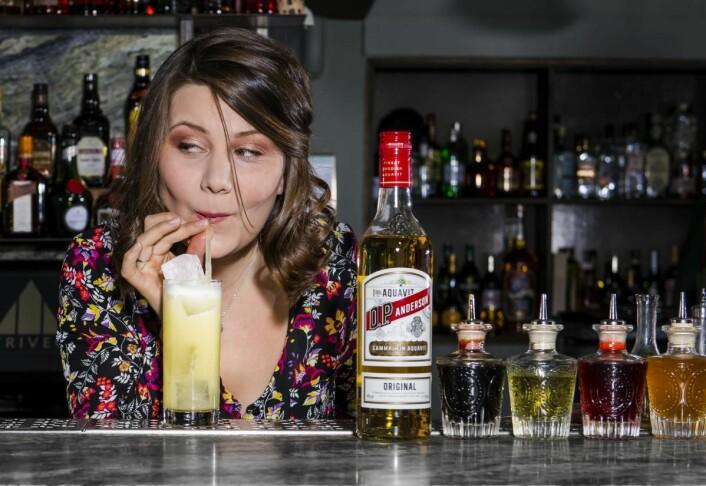 Kaitlin Wilkes på Corner Club i Stockholm har utarbeidet drinken Little Secret.