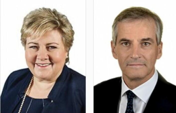 Erna Solberg og Jonas Gahr Støre kommer til konferansen Nord i sør.