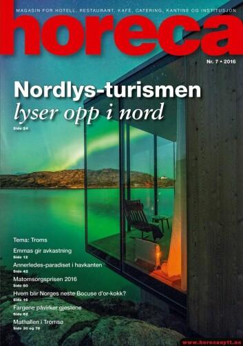 Omslaget på Horeca nummer 7 2016. (Foto: Steve King/Layout: Tove Sissel Larsgård