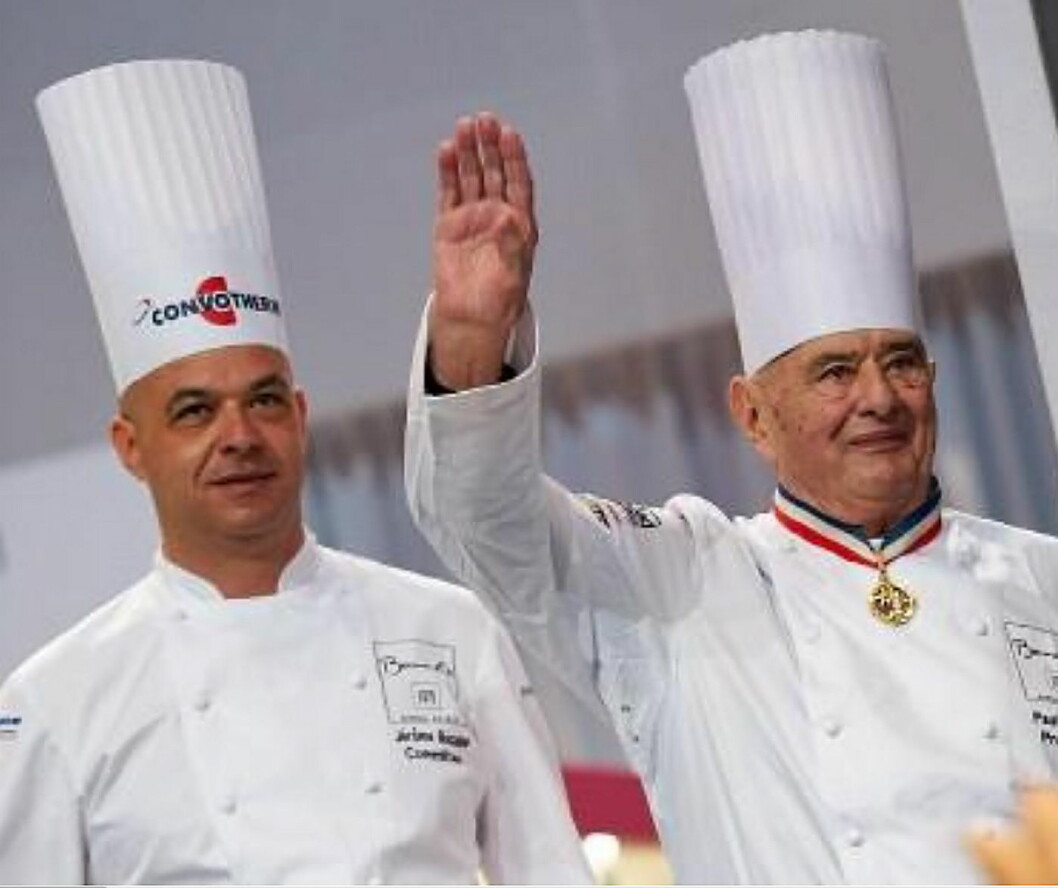 Jérôme Bocuse (til venstre) tar over presidentvervet i Bocuse d'Or etter sin far Paul. (Foto: Bocusedor.com)