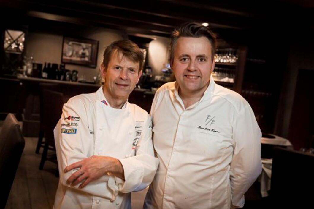 Lars Erik Underthun og Sven Erik Renaaa er blant de aller første toppkokkene i verden som serverer den svært eksklusive kaffen fra Nespresso, som er spesialutviklet for de gourmetrestaurantene.