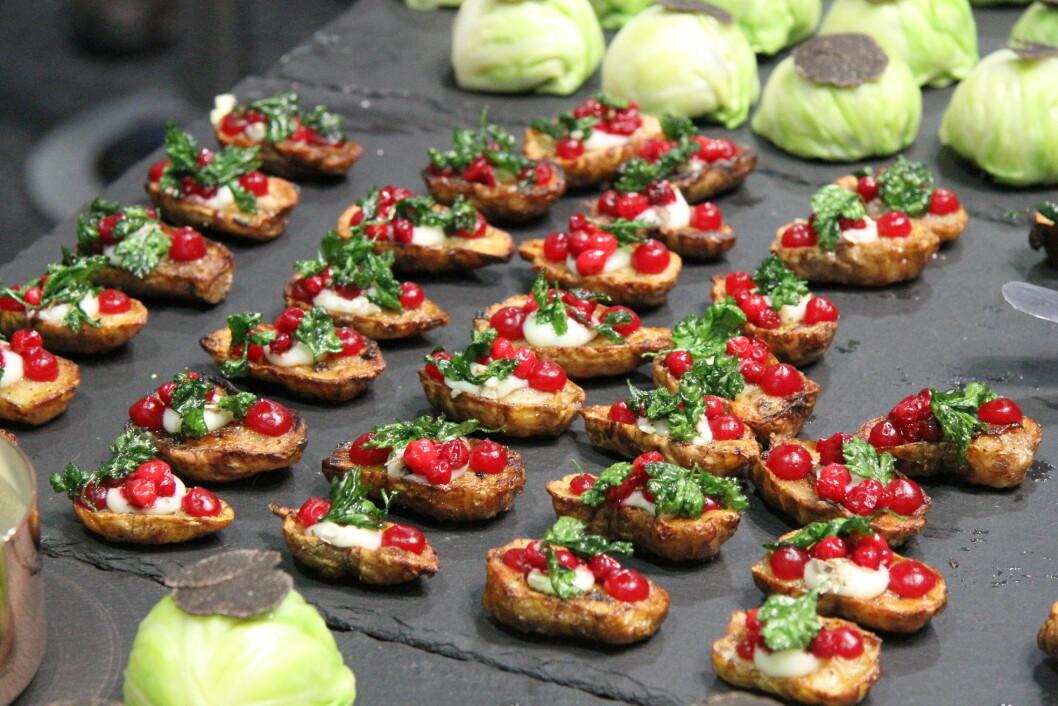 Dette var noe av det som ble servert da Årets grønne kokk ble arrangert i 2014. (Foto: Morten Holt)