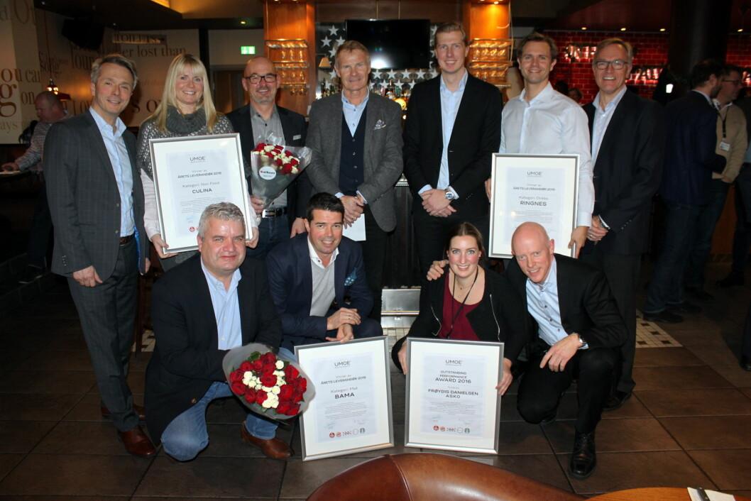 Årets leverandører hos Umoe Restaurants.