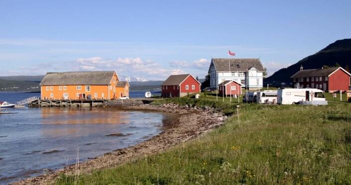 Sandtorgholmen ligger på en halvøy i Tjeldsundet. (Foto: Morten Holt)