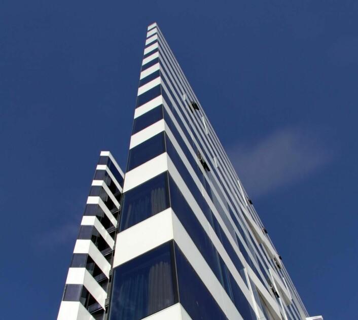 Spesiell arkitektur i Tromsø. (Foto: Morten Holt)