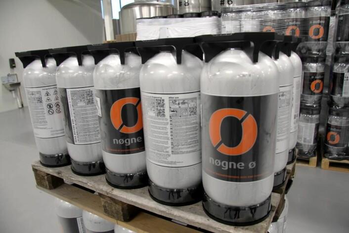Øl fra Nøgne Ø klar for storhusholdningsbransjen. (Foto: Morten Holt)