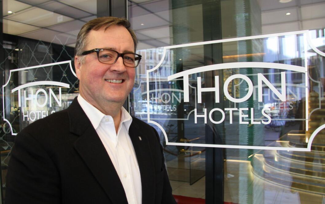 Konserndirektør for Thon Hotels, Morten Thorvaldsen. (Foto: Morten Holt)