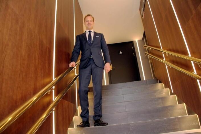 Lars Petter Mathisen er hotelldirektør på Thon Hotel Rosenkrantz i Oslo. (Foto: Morten Holt)