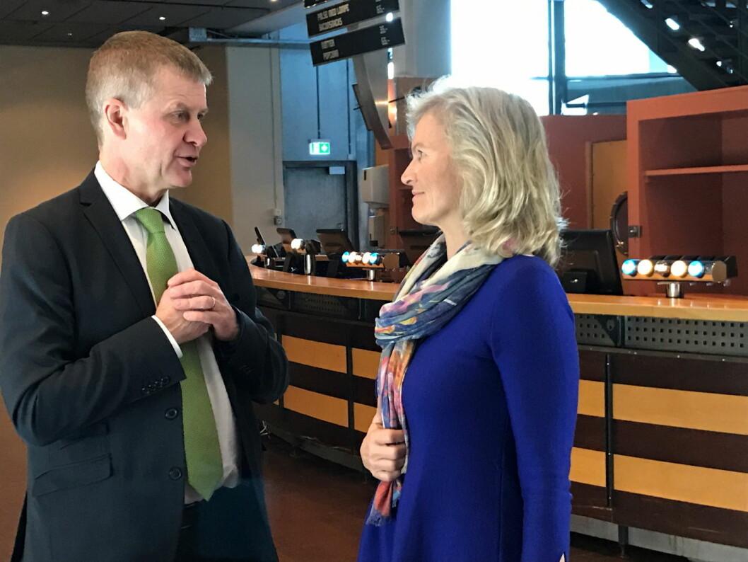 Erik Solheim og Kristin Krohn Devold deltok på NHOs årskonferanse.