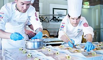 Det norske laget i Nordic Chefs team Challenge